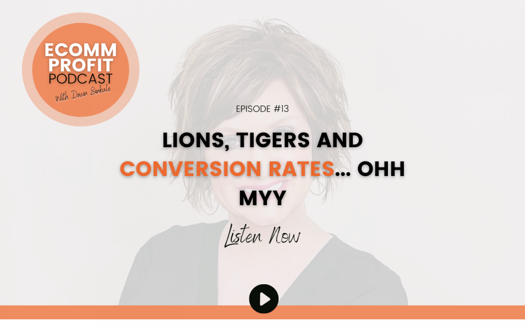13. Lions, Tigers, and Conversion Rates… OHH MYY